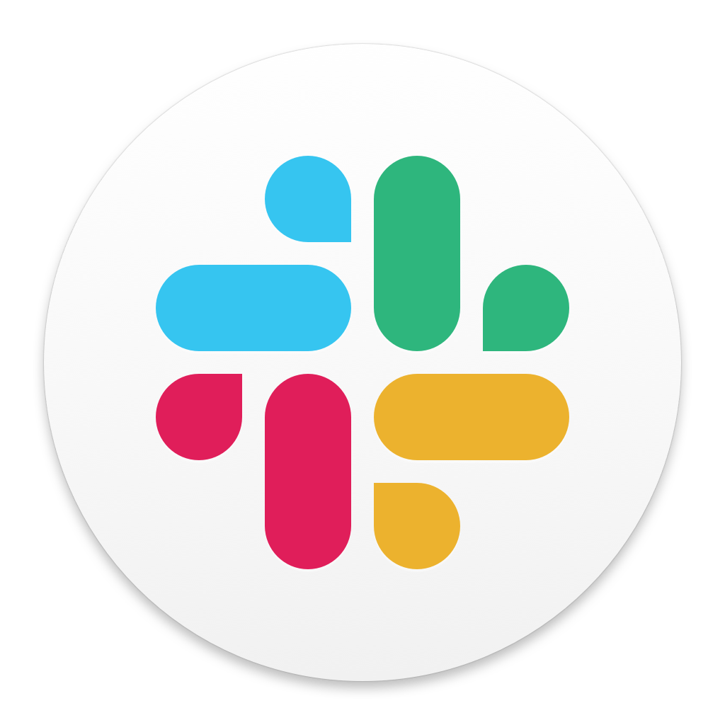 Slack icon in white circle